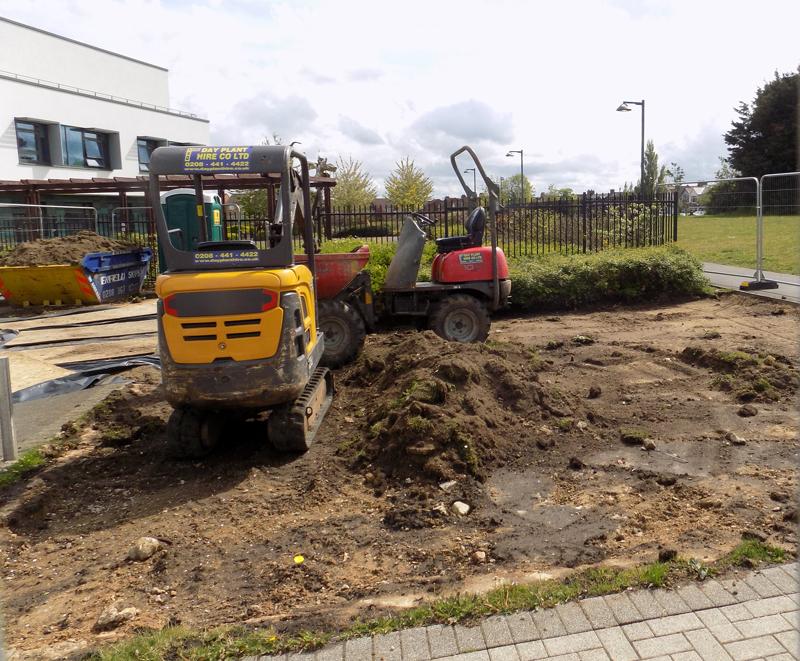 Work has begun on the Barnet War Memorial